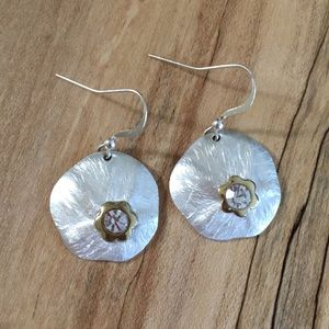 Jewelry - Brushed Silver Earrings